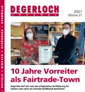 Titelseite des Degerlochjournals derWoche 21 2012